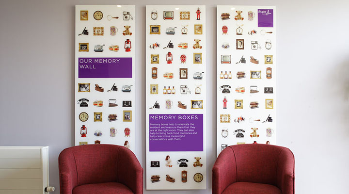 Particular Design & Print Bupa Care Homes Memory Wall 2